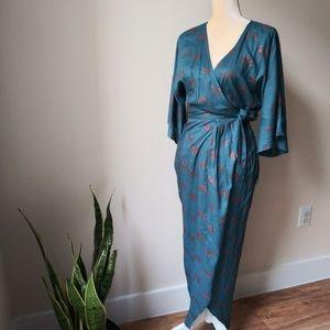 KIMONO WRAP BOHO  MAXI DRESS